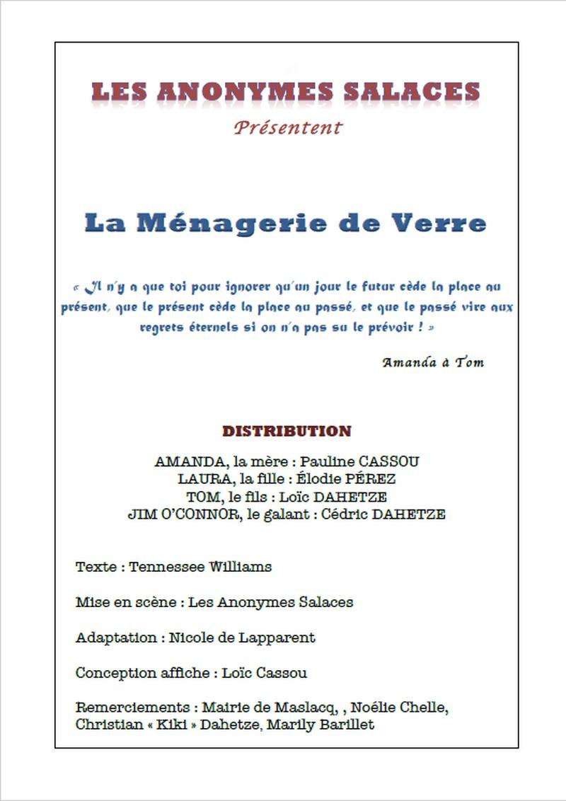 Théâtre : La ménagerie de verre - ORTHEZ