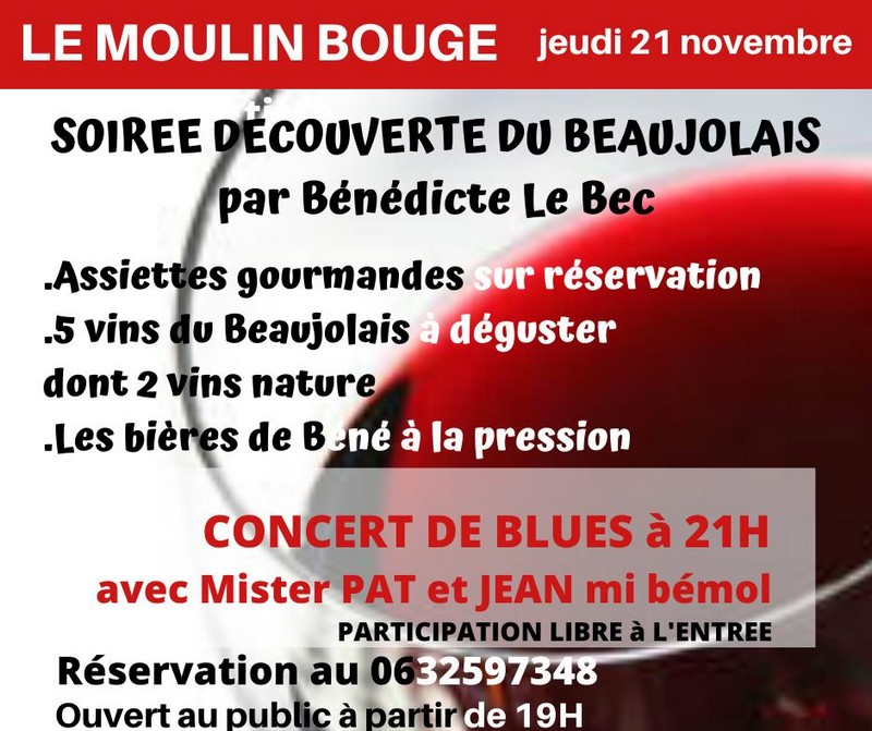Soirée blues et beaujolais - MONEIN