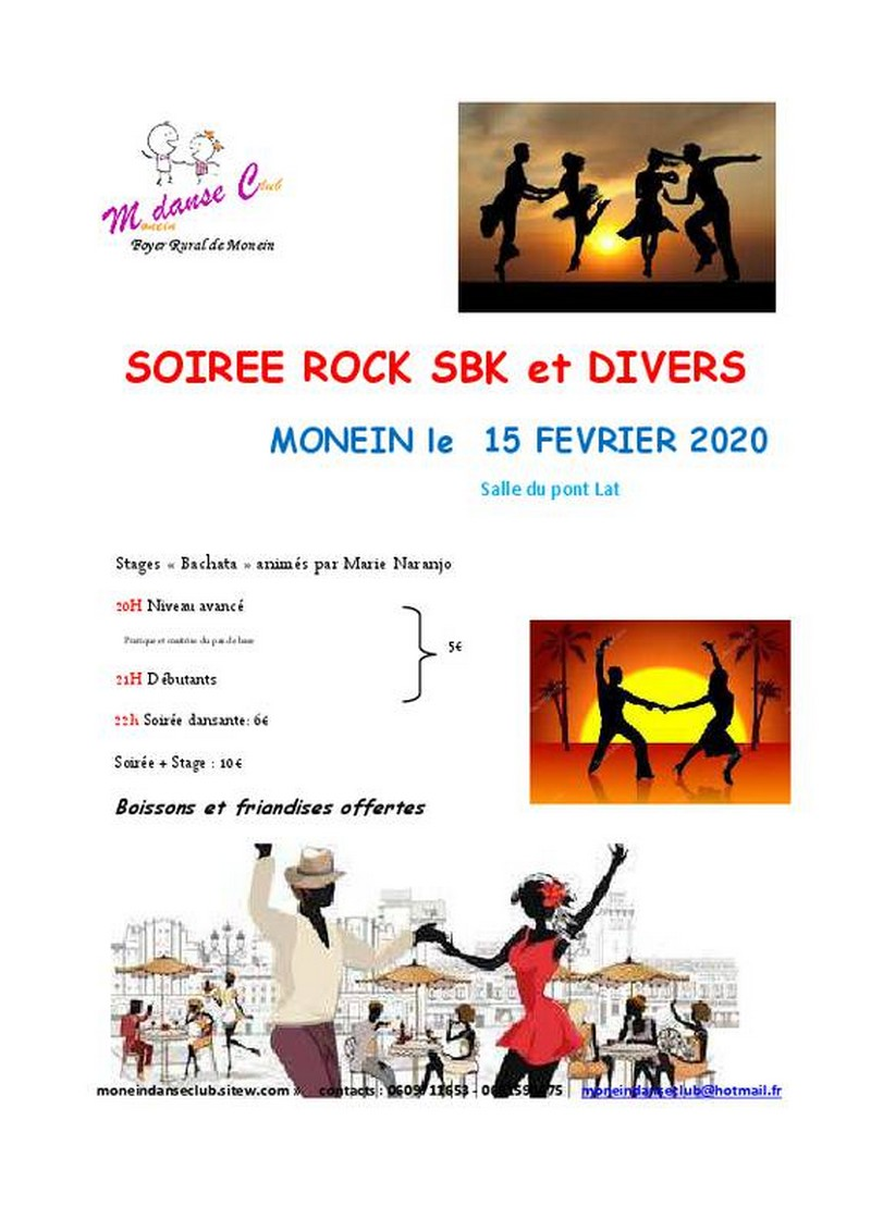 Soirée dansante Rock, SBK et divers - MONEIN